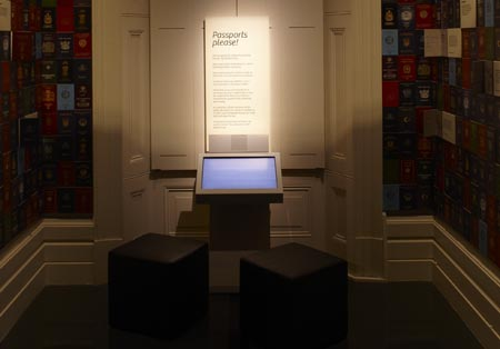 Passport room in the Identity exhibition