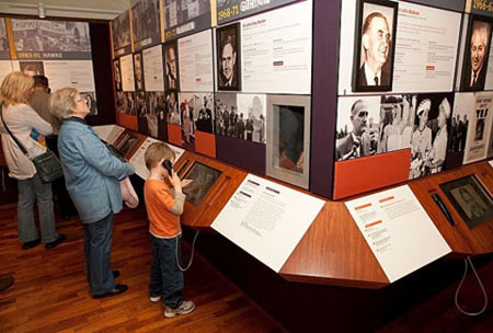 Image of the Prime Ministers of Australia exhibition, Museum of Australian Democracy, Old Parliament House, Canberra, ACT