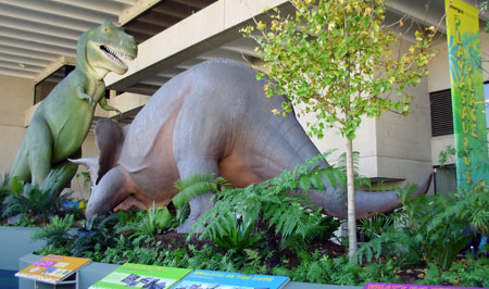 Fig. 8. 'Playasaurus place', recently furbished (2009) dinosaur display at the Queensland Museum