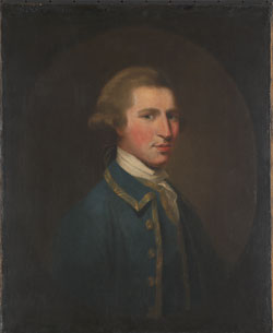 Portrait of George Barringto, about 1785