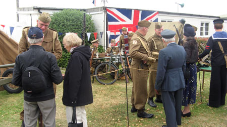 The re-enactors of The Real      Dad's Army are selected to resemble the characters from the comedy series