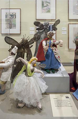 Display of the 'Minikins' dolls