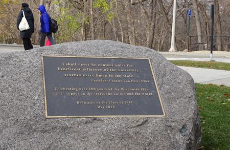 'The Wisconsin Idea' centenary public memorial