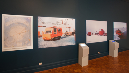 Section of the exhibition focusing on Australian Antarctic endeavours from 1947 to the 1980s