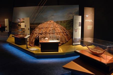 Replica stringy-bark hut