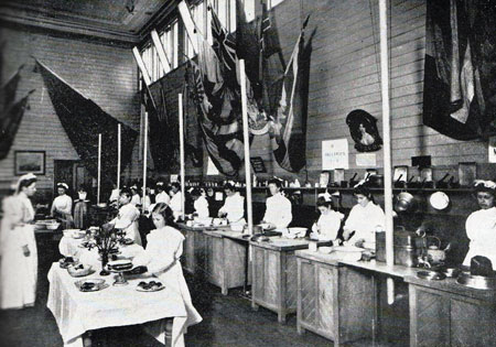 Fig. 3. A cookery demonstration at the State Schools exhibition in Melbourne, 1906