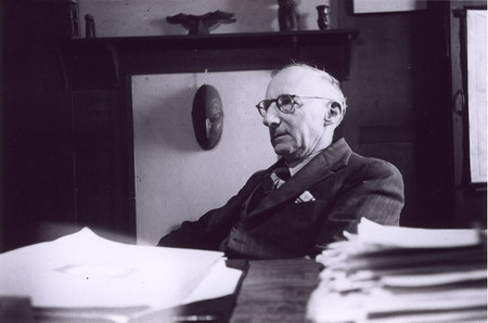 Professor Elkin at desk photograph