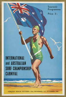 Program cover for surf carnival