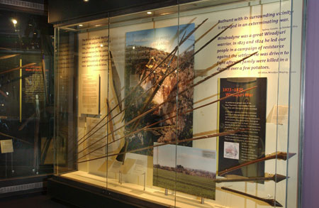 The Wirajuri war display case and objects