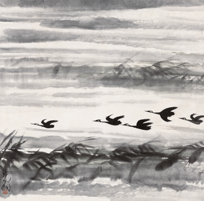 Ducks in Autumn, 1960 by Lin Fengmian, National Art Museum of China
