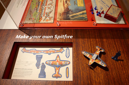 Wartime games and puzzles feature in this display in Home Front: Wartime Sydney 1939–45