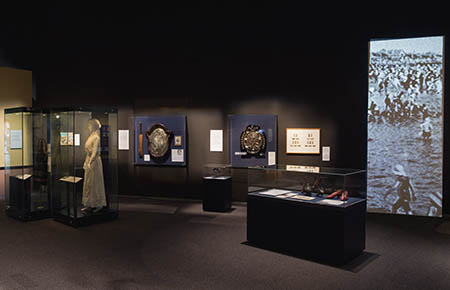 'Sport and leisure' section of the exhibition