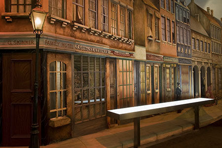 Diorama of George Street in the <em>Culture and Continuity</em> permanent exhibition, Sydney Jewish Museum