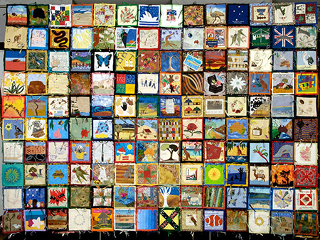 Quilt made up of 140 individual squares
