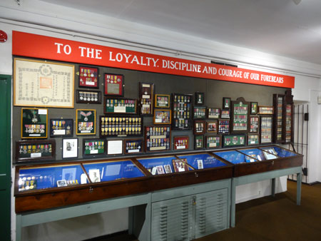 A medal display in Cornwall's Regimental Museum, Bodmin