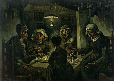 The Potato Eaters, 1885     Vincent van Gogh (1853-1890)     Van Gogh Museum, Amsterdam (Vincent van Gogh Foundation)