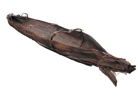 Bark Canoe used on the Yarra, about 1850