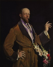 Self-portrait with Gladioli painting by Lambert