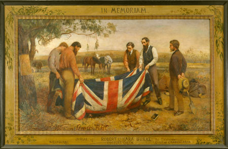 The Burial of Burke, 1911, by William Strutt (1825–1915), Gift of Mrs Otway Falkiner, 1944, State Library of Victoria