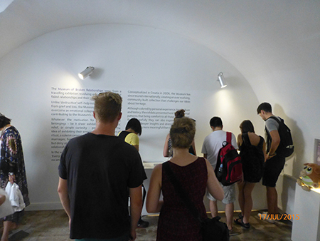 Visitors to the Museum of Broken Relationships, Zagreb