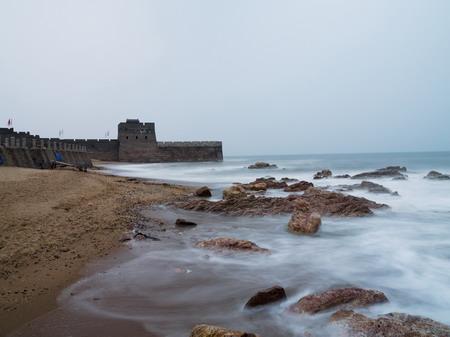Shanhaiguan, where the Great Wall meets the sea at the Bohai Gulf on China's eastern coast