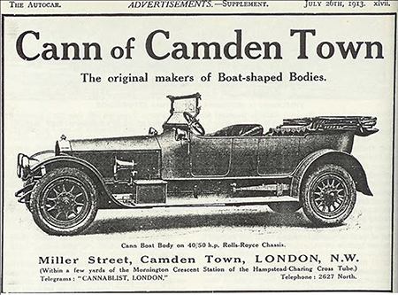Advertisement for Cann & Co., coachbuilders, 1913