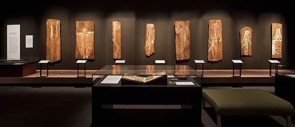 Bark paintings from Arnhem Land
