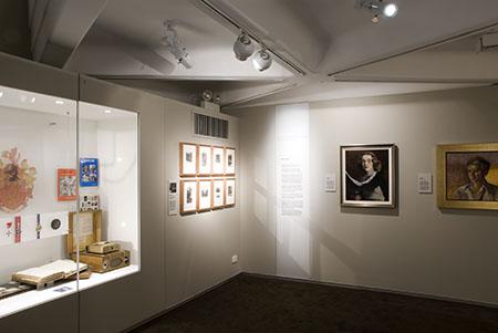 'Achievers' display, <em>Culture and Continuity</em> permanent exhibition, Sydney Jewish Museum