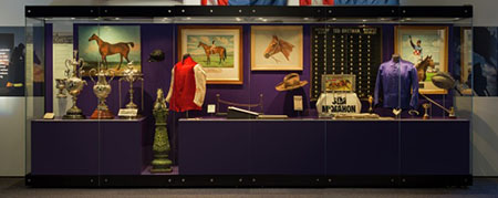 Melbourne Cups on display in the Spirited exhibition