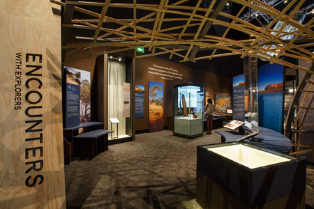 The Encounters exhibition on display at the National Museum of Australia, 2015–16
