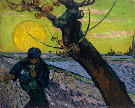 The sower, 1888     Vincent van Gogh (1853-1890)     Van Gogh Museum, Amsterdam (Vincent van Gogh Foundation)