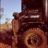 Pintupi man with truck