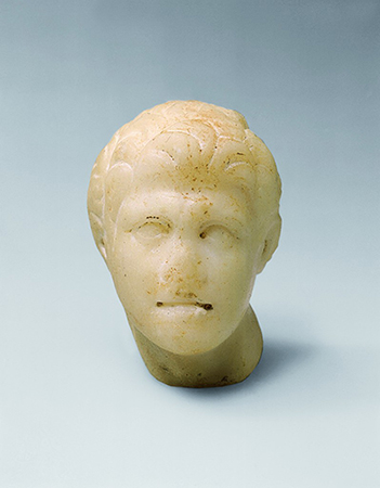 Fine-grained marble head of Alexander
