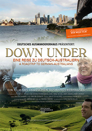 Poster for the movie Down Under: A Roadtrip to German Australians