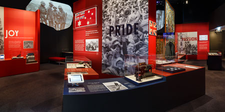 Displays are centred around the theme of emotions: pride, joy, wonder, passion and sorrow