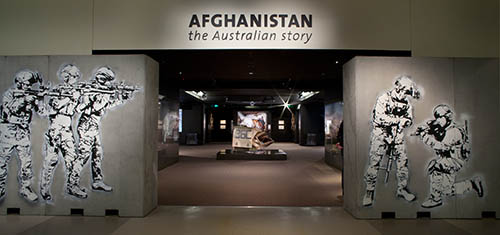Entrance way to the Afghanistan: The Australian Story gallery