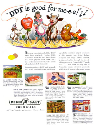 'DDT is good for m-e-e' advertisement, Penn Salt Chemicals