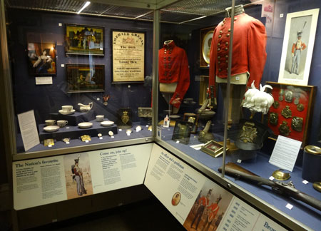 Objects on display at The Rifles Museum, Salisbury