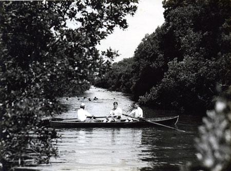 Recreation in Norman Creek, film still from Creek Kids, Navigating Norman Creek 2015, Museum of Brisbane