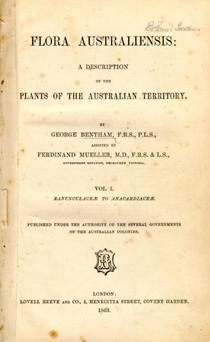 Bentham's Flora australiensis book title page