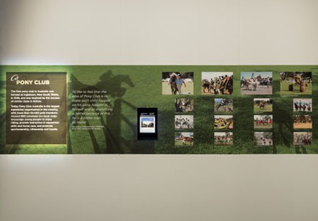 'My pony club' display in the Spirited exhibition