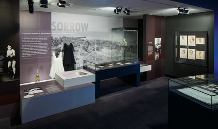 The 'Sorrow' module, which shares stories of grief and loss experienced back home in Australia