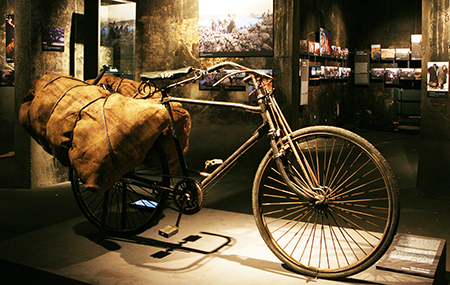 Coal bicycle used in India, exhibited in Coal Global