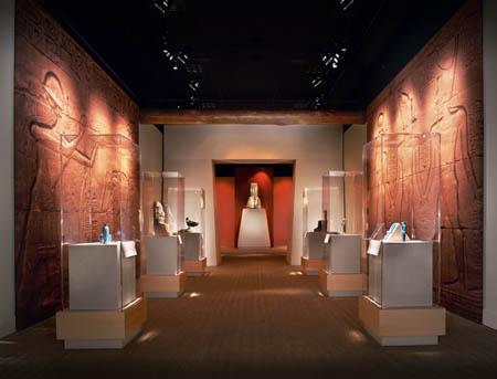 The Religious Revolution gallery in the      Tutankhamun exhibition