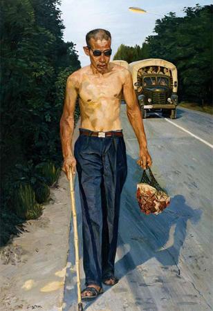 Blind, 1994, by Liu Ziaodong, National Art Museum of China