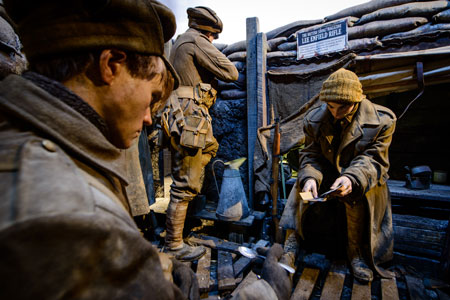 A trench scene reconstruction