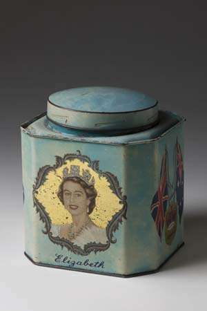 Image of a commemorative tea caddy