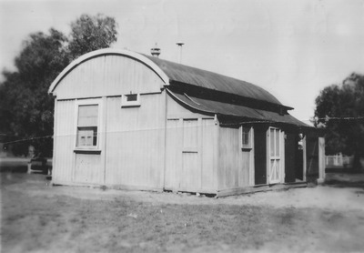 Photo of the Pallamallawa school building, around 1950