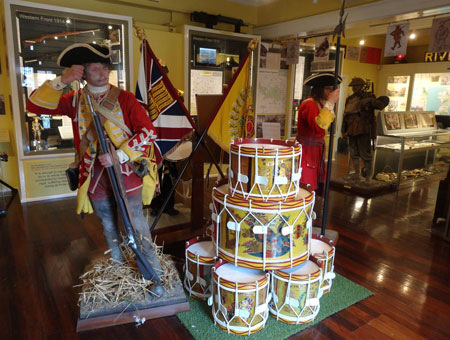 Life-size and life-like mannequins at the Royal Hampshire Regiment Museum, Winchester