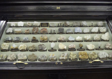 Image of Vrba's mineralogical collection in the National Museum, Prague